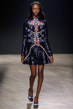 Click to see Mary Katrantzou's intricate, awe-inspiring F/W 14 collection at #LFW
