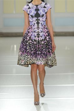 Temperley London Orchidea Printed Cotton And Silkblend Faille Dress in Purple