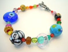 Colorful Beaded Strand Bracelet by Debbie Renee by DebbieRenee, handmade jewelry