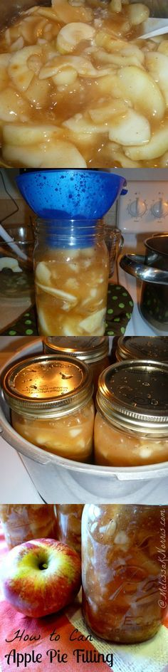 How to can apple pie filling, 2 recipes with instructions for both waterbath and pressure canning http://www.melissaknorris.com Pioneering Today