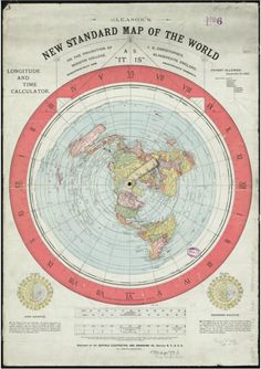 1862 Flat Earth Map found in Boston Library, click to read details...