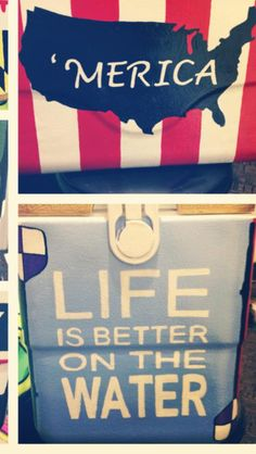 """""""Life is better on the water"""" Get your Yeti, Brute, or Engel Cooler from http://www.mcdonnellfeed.com/"""