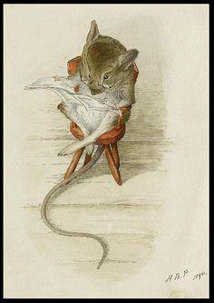 Mouse Reading Newspaper:. (Beatrix Potter)
