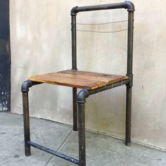 "Learn how to build this pipe chair with Kee Klamp fittings and pipe in ""5 Industrial Style Pipe Chairs & How to Build Them"" http://goo.gl/LNeC2H"