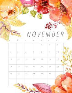Бесплатный календарь для печати 2018 Цветочный календарь - Коттеджный рынок