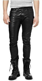 Men's leather pant men black skinny leather by Myleatherjackets, $169.99