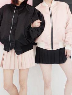black | pink