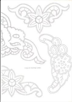 amo bordados Cutwork Embroidery, White Embroidery, Embroidery Patterns, Crazy Quilting, Point Lace, Cut Work, Needlework, Stencils, Diy Crafts