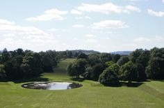 Hopetoun House, South Queensferry, Scotland  / View from the roof, looking over the back of the house to the Bathgate hills.