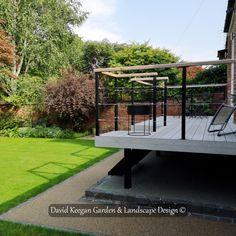 From one of my garden design projects Didsbury Manchester. Family garden, swipe for before picture. Landscape Design, Garden Design, Family Garden, Derbyshire, Back Gardens, Kingston, Garden Bridge, Design Projects, Manchester