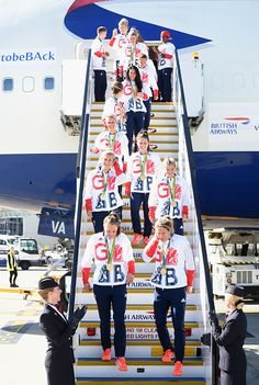 Team GB athletes and members of the women's gold medal winning hockey team leave…