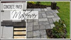 Paver Patio Makeover - using cheap concrete pavers Diy Patio, Backyard Patio, Backyard Landscaping, Backyard Ideas, Paver Patio Cost, Cheap Patio Ideas, Garden Ideas, Patio Fence, Patio Privacy