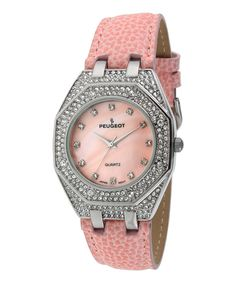 Sparkling Pink Hexagon Watch.