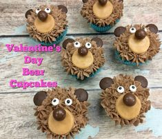 Easy Valentine's Day Bear Cupcakes – Edible Crafts