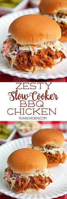 zesty slow cooker bbq chicken zesty slow cooker bbq chicken only 5 ...