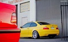 BMW E46 3 series yellow