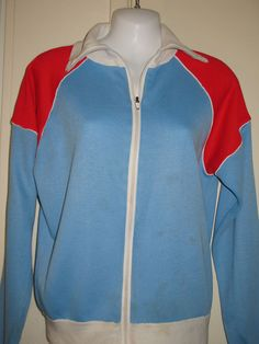 Womens Red, White, Blue, and  Navy Colored Long Sleeve Full-Zip Sweater, Large #Unbranded #FullZip