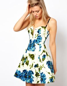 circle dress - love the floral