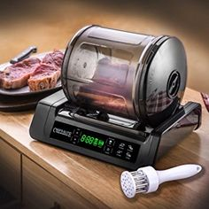STX International Chef's Elite 15 Minute Meat & Vegetable Marinator Vacuum Tumbler Canister Sealer with Auto Shut Off, Meat Tenderizer & Quick Connect Kitchen Gadgets, Kitchen Appliances, Kitchen Aide, Kitchen Dining, Deck Railings, Specialty Appliances, Unusual Gifts, Office Gifts, Cool Gadgets