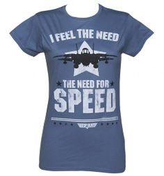 Ladies Top Gun Need For Speed T-Shirt from #TruffleShuffle xoxo