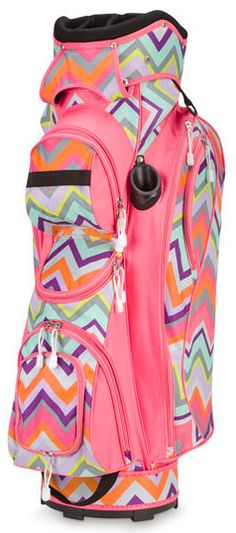 If only I was a golfer... but @Tori Hays is! You should get this girl!!    Room It Up/All For Color Ladies Cart Golf Bags - Chevron $159.99