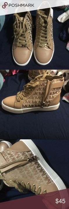 🔥NEW!🔥 Michael kors shoes New! Never been used. Size: 3 (kids) for women it would size 6 . MICHAEL Michael Kors Shoes Sneakers