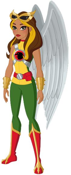 Hawkgirl, the Thanagarian -- also a much more modest costume than Hawkwoman has been known to sport.