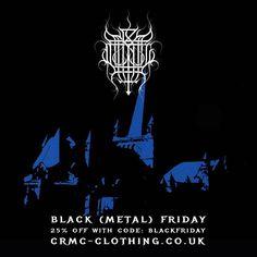 CRMC BLACK (METAL) FRIDAY DISCOUNT Further reductions on many items at www.crmc-clothing.co.uk | WE SHIP WORLDWIDE  USE DISCOUNT CODE - BLACKFRIDAY - FOR 25% OFF YOUR FULL ORDER #blackfriday #blackfriday2016 #blackfriday #blackfridaydeals #blackfridayshopping #discounts #sale #blackmetal #discount #mayhem #demysteriisdomsathanas #alternativegirl #alternativeboy #alternativeteen #blackwear #fashionstatement #altfashion #black #loveblack #fashion #euronymous #fuckbl