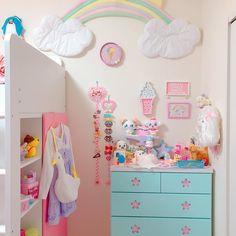 Cute Room Ideas, Cute Room Decor, Room Ideas Bedroom, Bedroom Decor, Kawaii Bedroom, Otaku Room, Pastel Room, Minimalist Room, Gamer Room