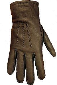 Handsker fra Cosby i hjorteskind. Brun