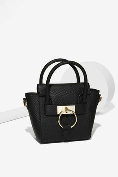 Textured Leather Look Mini Bag