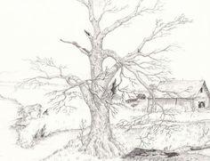 pencil drawings of landscapes: takaramo pic