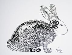Zentangle Bunny by Kim Vermee by milagros