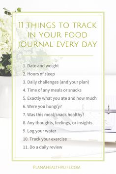 Why a food journal is the most effective weight loss tool, and 11 things to track every day. — PLAN A HEALTHY LIFE Did you know a food journal is the most effective weight loss tool? Here are 11 things you can trac Best Fat Burning Foods, Best Weight Loss Foods, Diet Plans To Lose Weight Fast, Weight Loss Workout Plan, Weight Loss Challenge, Weight Loss Meal Plan, Weight Loss Drinks, Losing Weight, Weight Loss Rewards