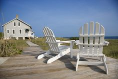 adirondack chairs at the shore- my retirement home