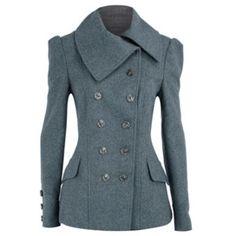 Dorothy Perkins Grey Nautical Short Coat Online