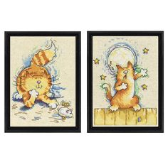 Cat and Mouse - Cross Stitch, Needlepoint, Embroidery Kits – Tools and Supplies