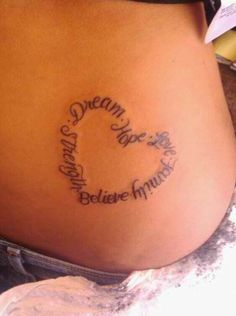Heart tattoo but with my kids names on it?