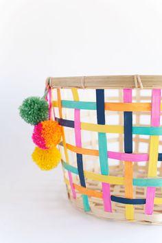 DIY Painted Basket (IKEA hack)