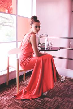 Watermelon dress by Amourie Becker. Watermelon Dress, Photoshoot, Elegant, Formal Dresses, Clothing, Summer, Fashion Design, Vintage, Classy