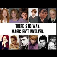 Harry Potter cast! Wow that really is magic