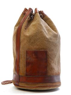Sandast - Sacco Canvas Bag - LOVE the leather details