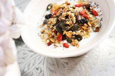 mysli 17-1 Acai Bowl, Oatmeal, Breakfast, Food, Acai Berry Bowl, The Oatmeal, Morning Coffee, Rolled Oats, Essen