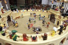 Recreación de la batalla de Numancia con Playmobil