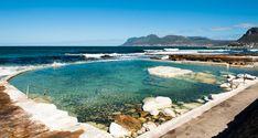 swimming spots offer safety, seclusion and scenic surrounds. Best of all, they place no strain on the city's dire water supply. Natural Swimming Pools, Natural Pools, Water Supply, Travel And Tourism, Marine Life, Cape Town, Family Travel, Places To Go, City