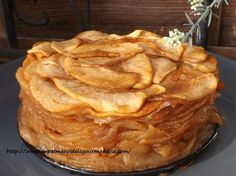 Apple confit cake, flour-free, egg-free, fat-free, and low-GI dairy products - On the palmares de la gourmandise - Dessert Recipes Diabetic Desserts, Köstliche Desserts, Health Desserts, Dessert Recipes, Lactose Free Desserts, Easy Cake Recipes, Apple Recipes, Cookie Recipes, Vegan Recipes