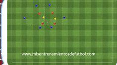 Ejercicios de fútbol - rondo de 6 jugadores más dos comodines contra 4 e...