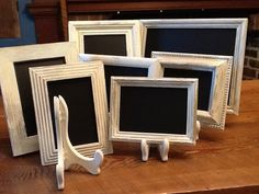Framed Chalkboards(8) Chalkboards,vintage Style Chic White Distressed, Wedding…