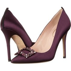 SJP by Sarah Jessica Parker Mary Women's Shoes, Purple (€405) ❤ liked on Polyvore featuring shoes, pumps, purple, slip on pumps, sjp shoes, pointed toe shoes, purple pointy toe pumps and sjp