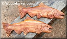 carving wooden salmon - Google Search